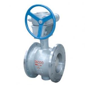 Flange type segmented ball valve