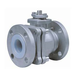 Stainless steel PFA lined ball valve
