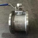 Short length wafer ball valve