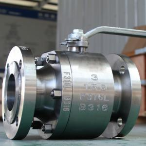 F304 F316 F316L Forged Floating Ball Valve