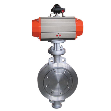 D673H Pneumatic wafer butterfly valve