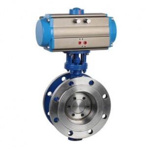 D643H Pneumatic Metal Seated Butterfly Valve