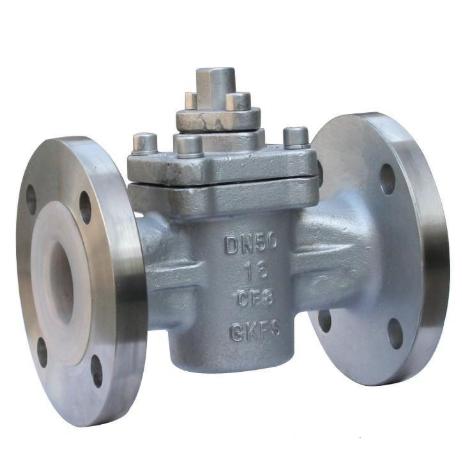 Full teflon PTFE lined plug valve