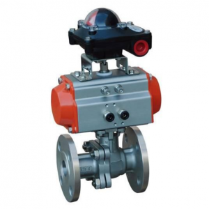 Pneumatic actuated flange ball valve