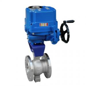 Electric V type segmented ball valve