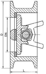 H76H Double disc check valve