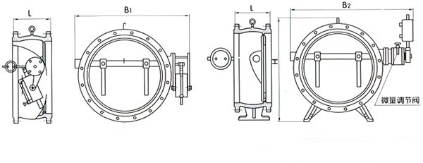 HH47X butterfly hydraulic check valve structure