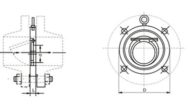 H74H wafer swing check valve structure