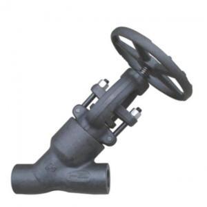 Pressure seal Y pattern globe valve