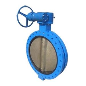 Gear operated U type butterfly valve
