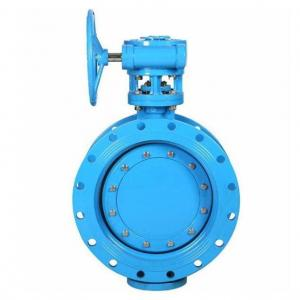 Double offset butterfly valve DN400