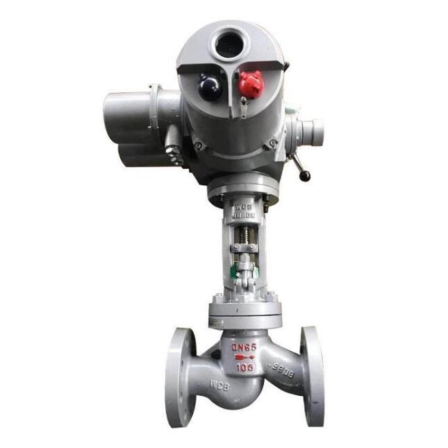 Electric actuated globe shut off valve