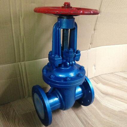 Fluorine telfon lined gate valve