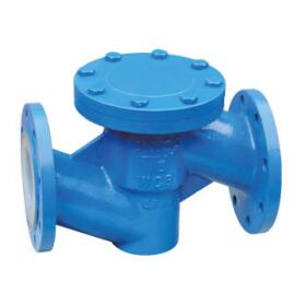 Fluorine telfon lined lift check valve