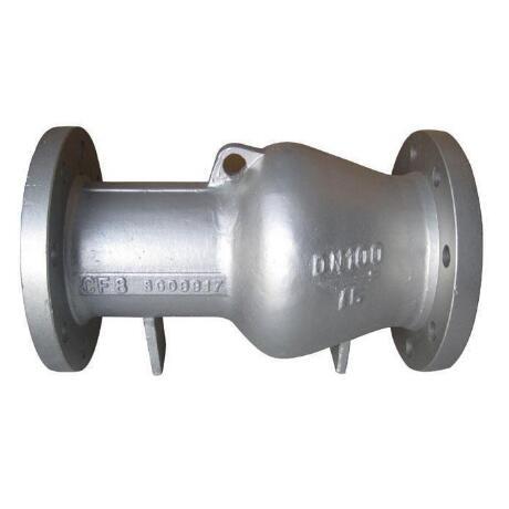 Nozzle type non slam check valve