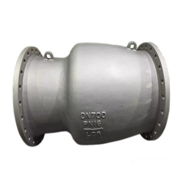 Non slam axial flow check valve