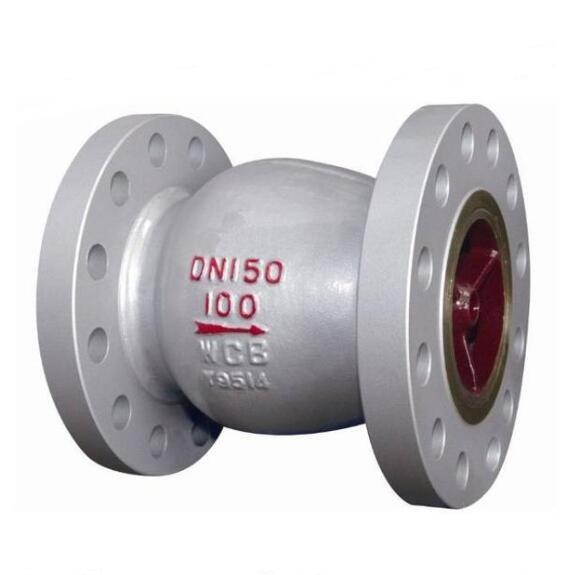 Axial flow nozzle type check valve