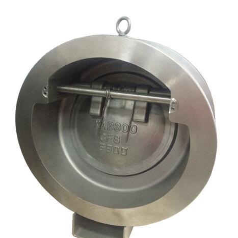 Non-slam tilting disc check valve