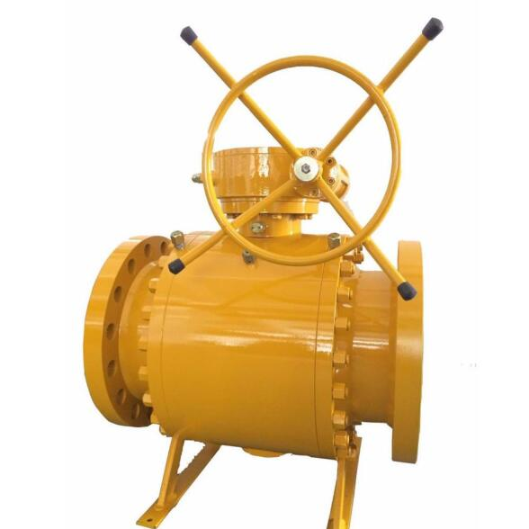 3PC Trunnnion ball valve 900LB