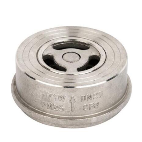 Spring loaded lift wafer check valve