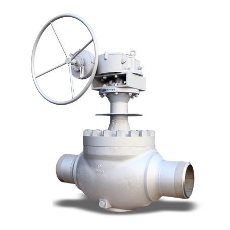 Top entry cryogenic trunnion ball valve