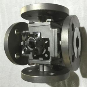 Carbon steel 4 way ball valve