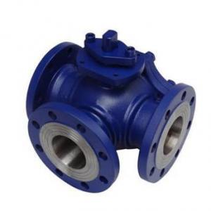 Cast steel 3 way ball valve