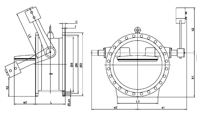 Butterfly Check Valve with Hydraulic Counter Weight structure