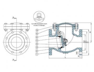 2 Inch 50mm DN50 swing check valve